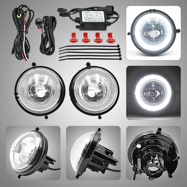 Vinstar mini cooper car styling high power dayline guide Halo Style Mini coopers r56 fog light with e-mark approved