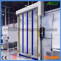 Workshop fast moving automatic fabric roll up door / containers roll up doors
