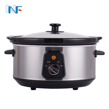 New item electrical appliance crock pot 4.5l automatic electric 3.5 qt Round Stainless Steel Slow Cooker