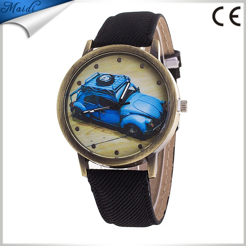 Mens Watches Top Brand Fabric Luxury Car Ladies Second Pointer Relogio Jeans Strap Fashion Women Dress Wristwatch LW042