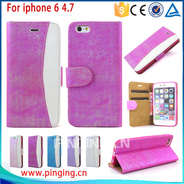 For Iphone 6 Flip Case, for Apple iPhone 6 Case Cover PU Leather Flip Folio Wallet Case Cover for Apple iPhone 6 4.7 Inch