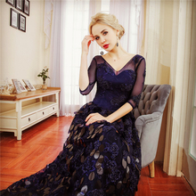 wholesale elegant evening dress patterns of lace evening dress