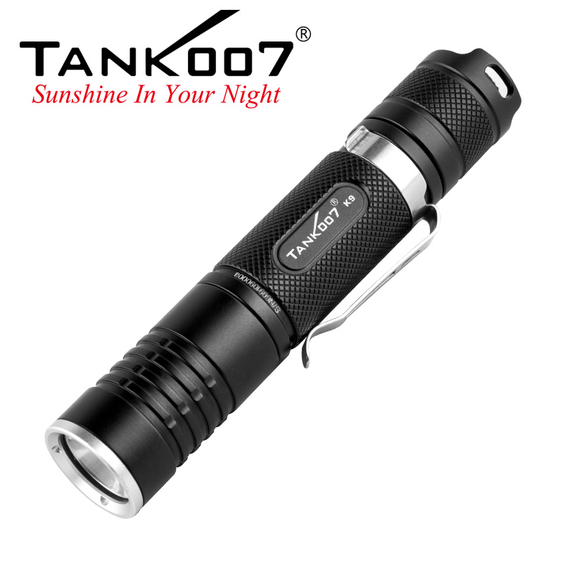 Lightweight tactical flashlight 18650 battery led <strong>mini</strong> flashlight with strobe K9