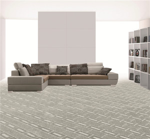 Checked pattern carpet Polypropylene PP surface Tufted carpet living room bedroom broadloom wall to wall carpet
