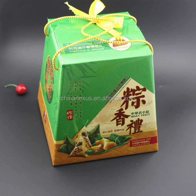 Chinese glutinous rice dumplings packing box