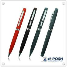 High quality luxury leather pattern imprint twist action gift ball pen