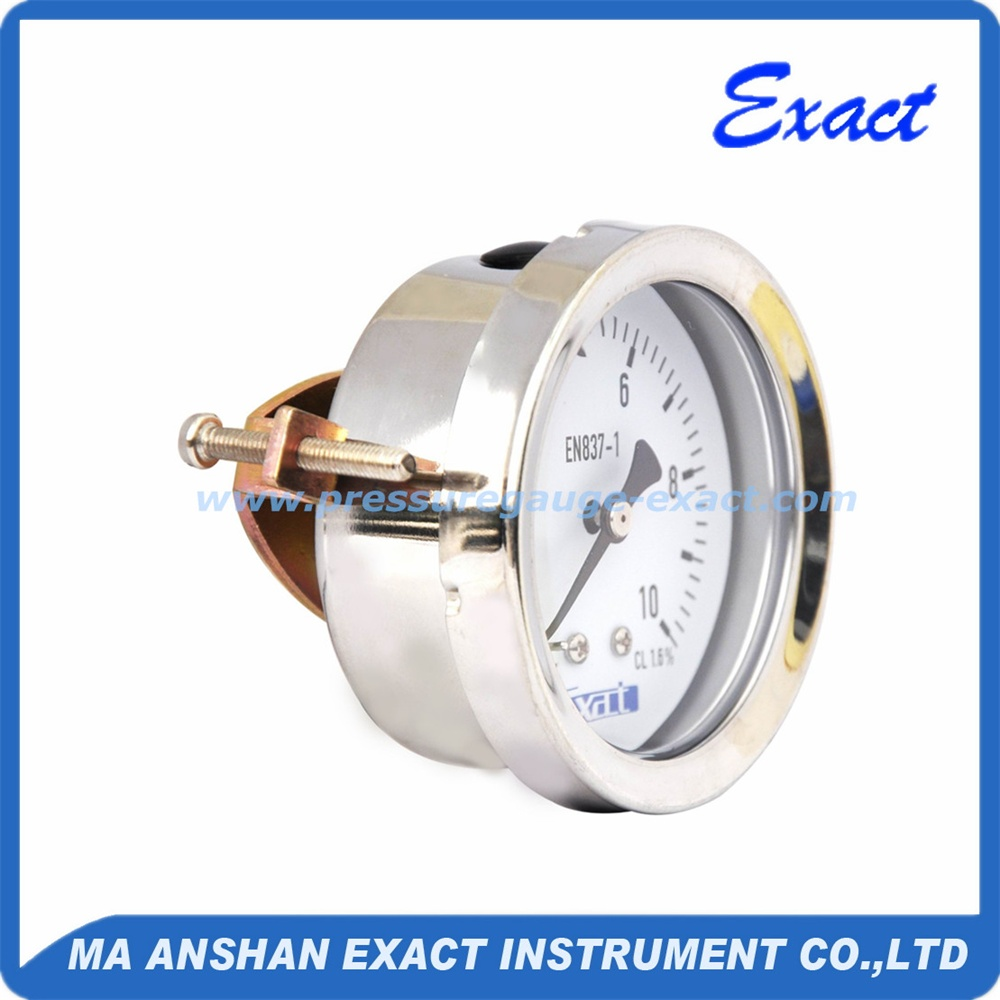 Stainless Steel Panel Mount Pressure Gauge With Bayonet Ring
