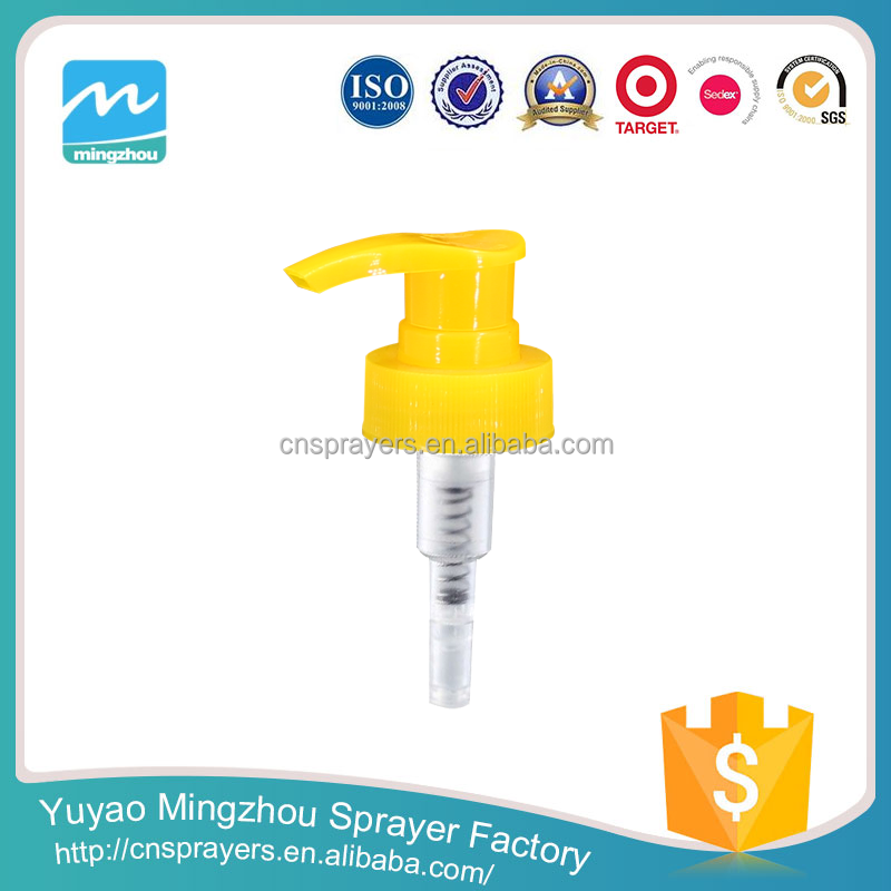 Yu Yao Factory Wholesale Plastic Lotion Pump in any Injection color 28mm 24mm for Plastic Bottle