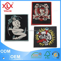 High quality Iron-on woven patches supplier
