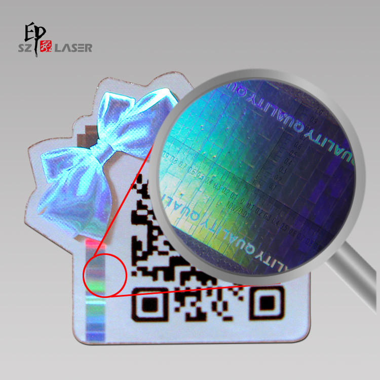 QR code tamper evident hologram sticker with numbering