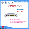 Fiber optical equipment GPON ONU 4GE+2POTS