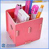 Small wood storage cabinet makeup brush case