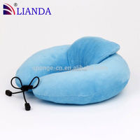 U shape Pillow For Neck Protection Driver, Memory Foam Bamboo Pillow with Washable Neck Pillow Cover
