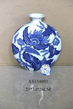 various chinese antique ceramic blue and white flower vase for home decoration