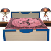 KTBC-28 Celtic Flying Dragon Printed New Designs Bed Cover Modern Home Decor Queen Size Bedspread From Jaipur Wholesale