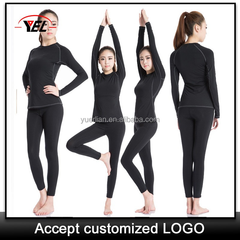 Polyester/spandex sport athletic wear for women , womens workout tees , yoga clothing companies 2039