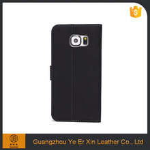 China manufacturer wholesale luxury oem smart genuine leather mobile phone case for samsung s5 s6 s7 edge