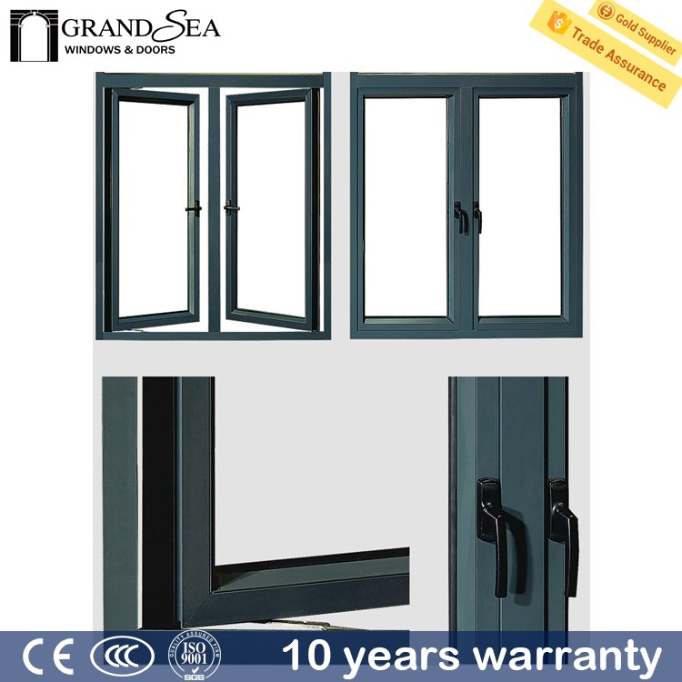 Best selling extrusion profile large casement windows for Buy casement windows online