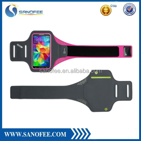 Universal Running Armband For iphone 5 for samsung S3/S4/Note3/Note4 Black Gym Phone Bag Case