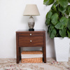 American Imported Cherry Wood Bedside Table