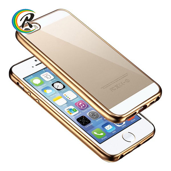 Silicon phone case for iphone for iPhone 5 5s 5c guangzhou phone case plating bumper