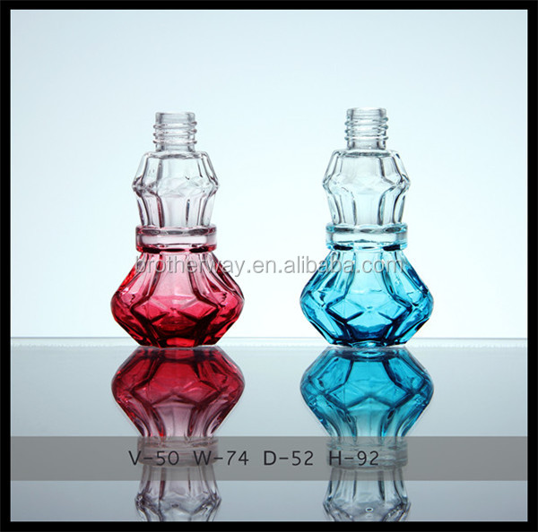 50ml screw top custom made red colored glass perfume bottles