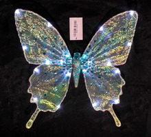 nightlight color button battery LED string butterfly wing for resteraunt wall hanging widget seasonal present