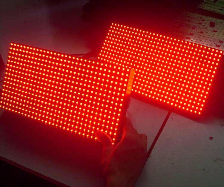 High brightness p10 outdoor single red led display module with 320x160