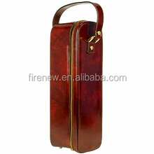 Leather Wine Carrier, Single Wine Bag, PU Wine Box