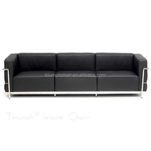 Triumph Le Corbusier leather Sofa set 3 1 2 seat /Comfortable leisure chair / leather Lounge Sofa