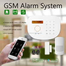 SMS GSM home security alarm system support Android IOS APP application home alarm system burglar alarm