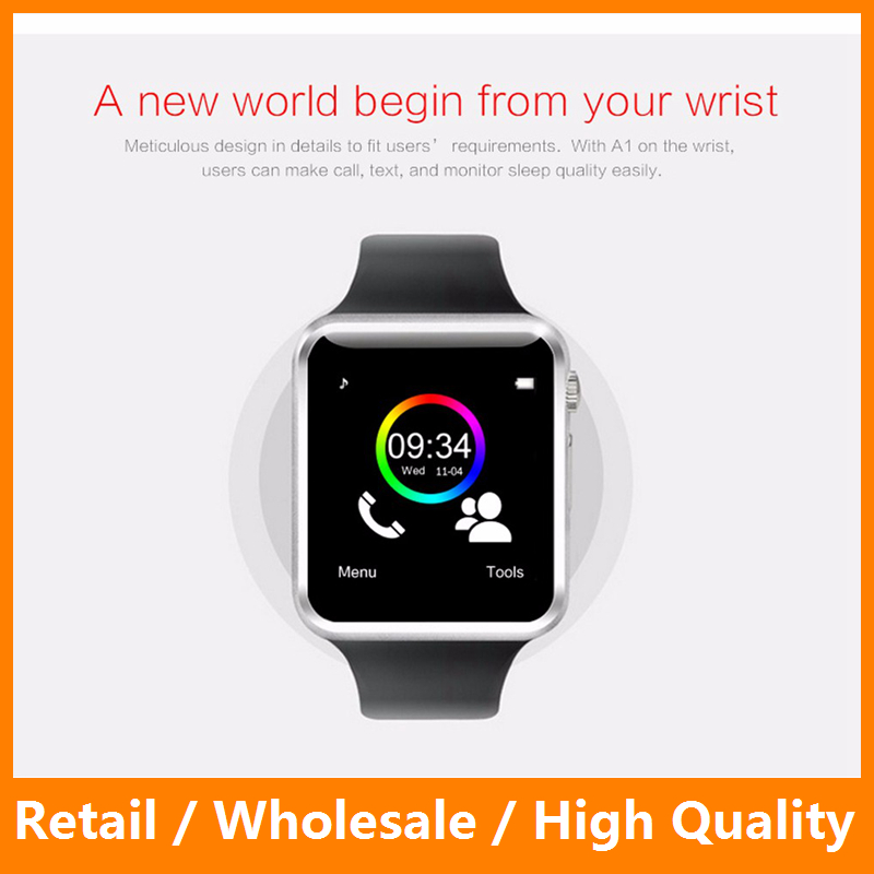 <strong>A1</strong> WristWatch Bluetooth Smart Watch Sport Pedometer Support SIM Camera Smartwatch Android Smartphone