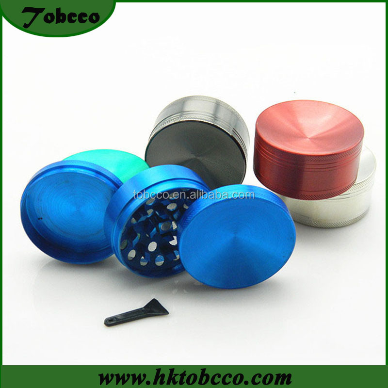 3 Layers Concave Surface 55mm Metal Weed Pollinator Cigarette Crusher Spice Tobacco Herb Grinder