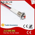 10mm brass waterproof red led light oven pilot indicator lamp neon 220v 230v 380v with cable