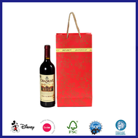 Popular handmade red wine gift paper bag