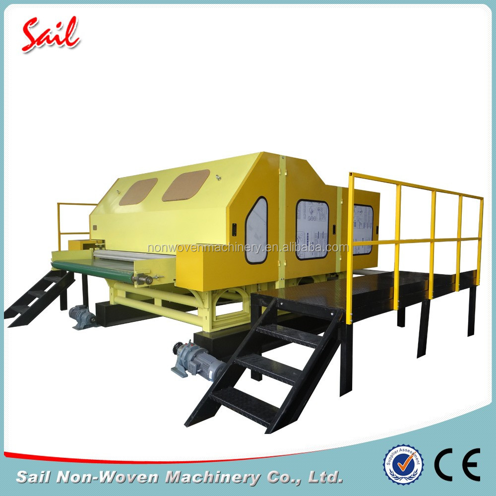 Sail nonwoven best quality fiber wool carding machine double doffer combing machine