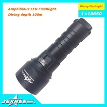 Jexree Scuba Diving Equipment powered by Cree XML T6 LED 1200 Lumen Underwater Diving Flashlight