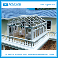 Aluminum alloy outdoor winter garden glass sun room