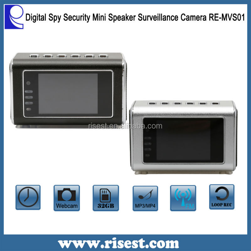 Hidden Security Cameras Hidden Camera Surveillance Mini Speaker Clock Camcorder RE-MVS01
