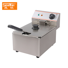 Commercial stainless steel electric deep fryer with single tank for chips/Deep Fat Fryer Single