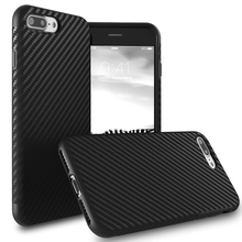 Luxury Carbon Fiber Soft TPU Silicone Thin Case Cover for iphone 7 plus