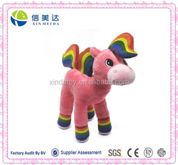 Rainbow Horse Plush Toy