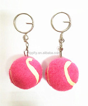 mini tennis ball keychain for promotion items