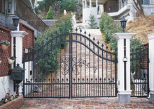 Secure Front Entry Iron Gate - 6 ft x 8 ft China two-way deer fence gates nz
