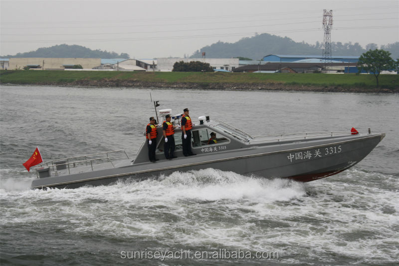 13.5M High Speed Patrol Boat Military Boat For Chasing Fiberglass Boat