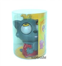 2015 hot new toyfor children China wholesale vinyl grey wolf pop eyes cartoon figure toys