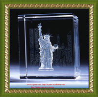 3d crystal cube 3d laser crystal the Statue of Liberty
