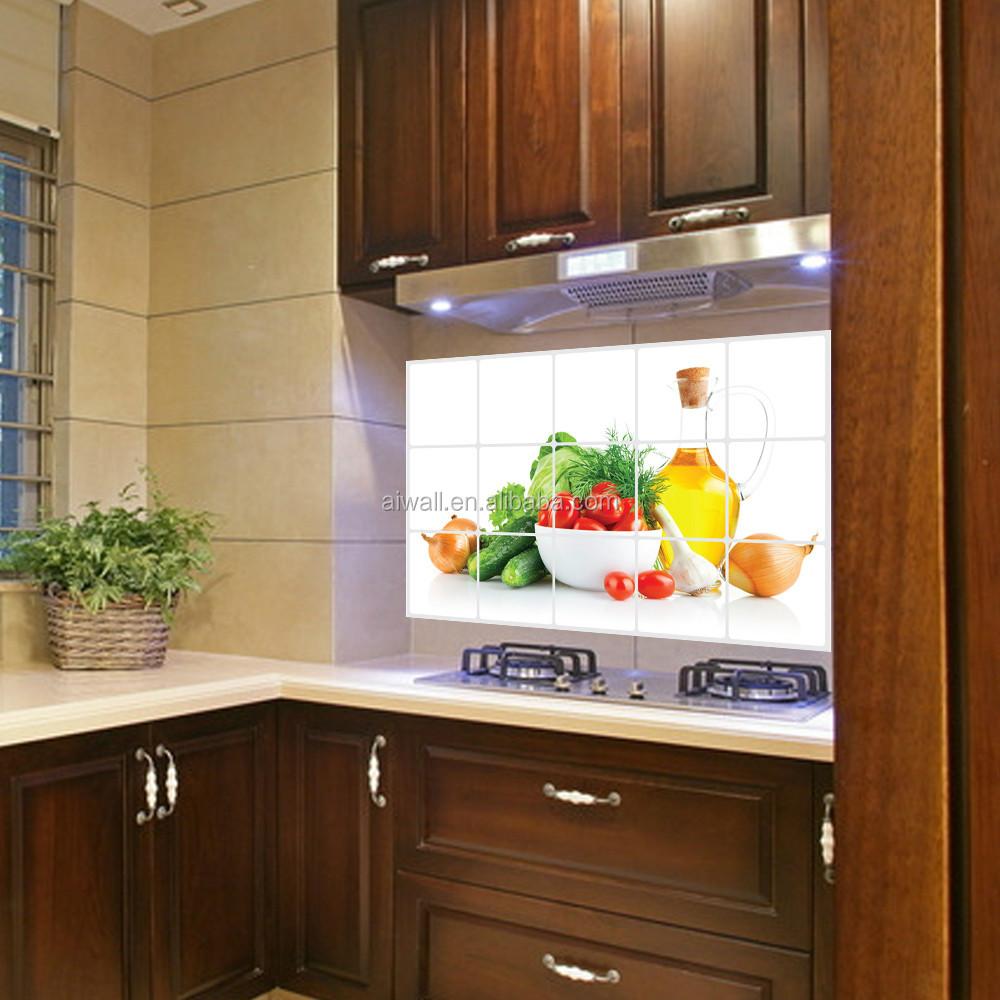 3018 obst und Gemüse Anti Öl Aufkleber Wand Blume Fliesen Küche öl ...