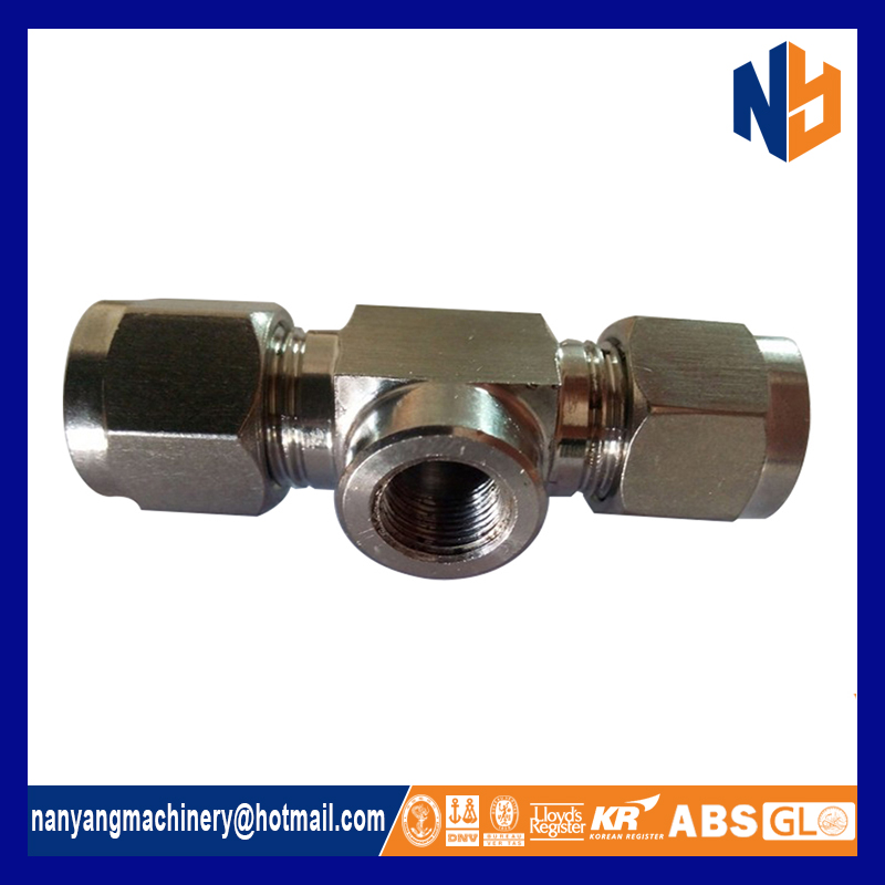 Brass compression coupling copper pipe fittings