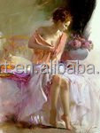 Pino Daeni beautiful sexy nude girl impressionism oil painting on canvas